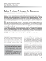 Patient treatment preferences for osteoporosis.