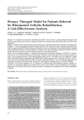 Primary therapist model for patients referred for rheumatoid arthritis rehabilitationA cost-effectiveness analysis.