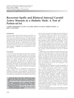Recurrent spells and bilateral internal carotid artery stenosis in a diabetic maleA test of patien-ce-ts.