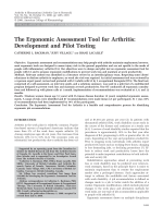 The ergonomic assessment tool for arthritisDevelopment and pilot testing.