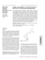 Design and Synthesis of a Focused Library of Novel Aryl- and Heteroaryl-Ketopiperazides.