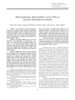 Musculoskeletal abnormalities of the tibia in juvenile rheumatoid arthritis.