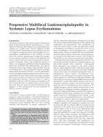 Progressive multifocal leukoencephalopathy in systemic lupus erythematosus.