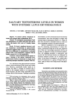 Salivary testosterone levels in women with systemic lupus erythematosus.