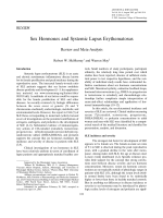Sex hormones and systemic lupus erythematosusReview and meta-analysis.