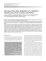 The knee pain mapReliability of a method to identify knee pain location and pattern.