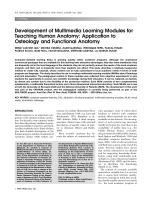 Development of multimedia learning modules for teaching human anatomyApplication to osteology and functional anatomy.