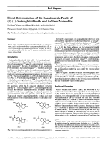 Direct Determination of the Enantiomeric Purity of R-+-Aminoglutethimide and its Main Metabolite.