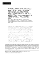 Juvenile hormone changes associated with diapause induction maintenance and termination in the beet webworm Loxostege sticticalis lepidopterapyralidae.