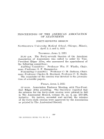 Proceedings of the American Association of Anatomists. Forty-seventh Session. Northwestern University Medical School  Chicago  Illinois  April 2  3  and 4  1931