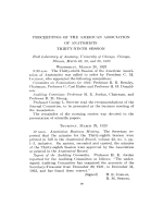 Proceedings of the American Association of Anatomists. Thirty-ninth Session