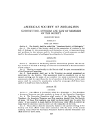 Proceedings of the American Society of Zo├╢logists. Constitution  etc