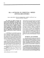 Hla antigens in essential mixed cryoglobulinemia.