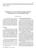 Summary of the fourth international symposium on lyme borreliosis.