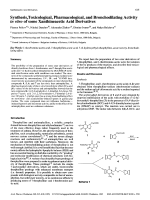 Synthesis Toxicological Pharmacological and Bronchodilating Activity in vitro of some Xanthineacetic Acid Derivatives.