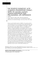 The putative-farnesoic acid O-methyl transferase FAMeT gene of Ceratitis capitatacharacterization and pre-imaginal life expression.