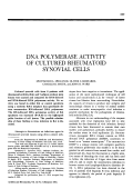 DNA polymerase activity of cultured rheumatoid synovial cells.