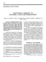 Frentizole therapy in systemic lupus erythematosus.