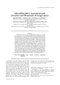 MicroRNA-206 Is Associated With Invasion and Metastasis of Lung Cancer.