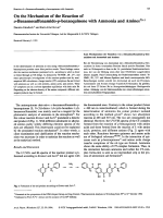 On the Mechanism of the Reaction of o-Benzenesulfonamido-p-benzoquinone with Ammonia and Amines.