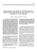 Prealbumin and retinol binding protein serum concentrations in the indiana type hereditary amyloidosis.