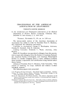 Proceedings of the American Association of Anatomists. Twenty-ninth session