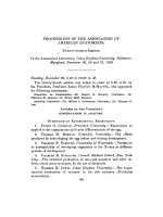 Proceedings of the association of American anatomists.