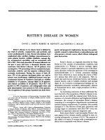Reiter's disease in women.