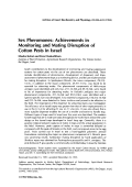 Sex pheromonesAchievements in monitoring and mating disruption of cotton pests in Israel.