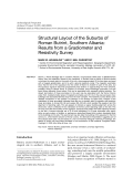 Structural layout of the suburbs of Roman Butrint southern Albaniaresults from a gradiometer and resistivity survey.