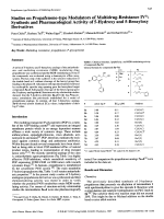 Studies on Propafenone-type Modulators of Multidrug-Resistance IVSynthesis and Pharmacological Activity of 5-Hydroxy and 5-Benzyloxy Derivatives.