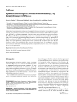 Syntheses and Biological Activities of Benzimidazolo[21-b] benzo[e]thiazepin-510H-ones.