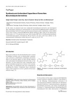 Synthesis and Antioxidant Capacities of Some New Benzimidazole Derivatives.
