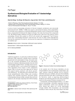Synthesis and Biological Evaluation of 7-Azaisoindigo Derivatives.
