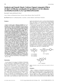 Synthesis and Smooth Muscle Calcium Channel Antagonist Effects of Alkyl 14-Dihydro-26-dimethyl-4-pyridinyl-5-[2-45-dihydro-44-dimethyloxazolin-2-yl]-3-pyridinecarboxylates.