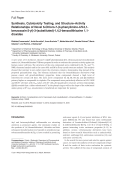 Synthesis Cytotoxicity Testing and StructureActivity Relationships of Novel 6-Chloro-7-4-phenylimino-4H-31-benzoxazin-2-yl-3-substituted-142-benzodithiazine 11-dioxides.