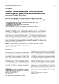 Synthesis Telomerase Evaluation and Anti-Proliferative Studies on Various Series of Diaminoanthraquinone-Linked Aminoacyl Residue Derivatives.