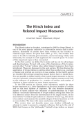 The Hirsch index and related impact measures.