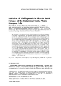 Initiation of vitellogenesis in pharate adult females of the Indianmeal moth  Plodia interpunctella.