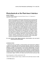 Phytochemicals at the plant-insect interface.