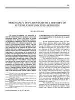 Pregnancy in patients with a history of juvenile rheumatoid arthritis.