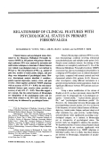 Relationship of clinical features with psychological status in primary fibromyalgia.