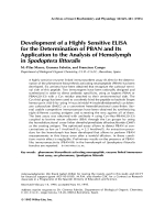 Development of a highly sensitive ELISA for the determination of PBAN and its application to the analysis of hemolymph in Spodoptera littoralis.