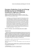 Premature production of late larval storage proteins in larvae of trichoplusia ni parasitized by euplectrus comstockii.