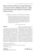 Effects of the juvenile hormone analog pyriproxyfen on German cockroach  Blattella germanica (L.)  tergal gland development and production of tergal gland secretion proteins