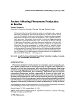 Factors affecting pheromone production in beetles.