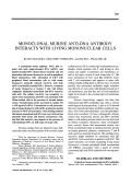 Monoclonal murine anti-dna antibody interacts with living mononuclear cells.