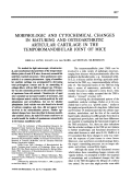 MOrphologic and cytochemical changes in maturing and osteoarthritic articular cartilage in the temporomandibular joint of mice.
