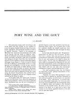 Port wine and the gout.