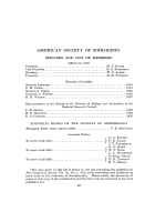 Proceedings of the American Society of Zo├╢logists  Twentieth Session. Officers and List of Members